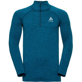 Odlo Irbis Warm 1/2 Zip Midlayer Men poseidon-blue jewel